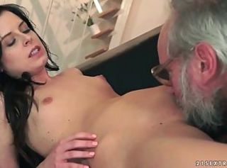 Cute Daddy Daughter Licking Old and Young Skinny Small Tits Teen