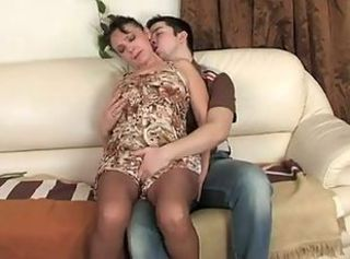 Mature Mom Old and Young Pantyhose Russian