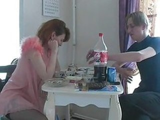 Amateur Drunk Homemade Kitchen Mature Mom Old and Young Redhead Russian