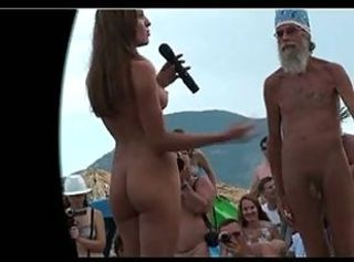 Amateur Daddy Nudist Old and Young Outdoor Party Public