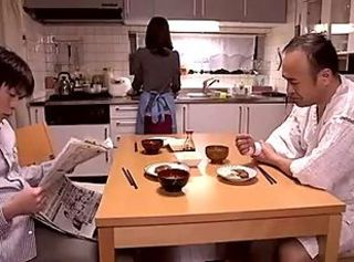 Asian Daddy Family Japanese Kitchen Wife