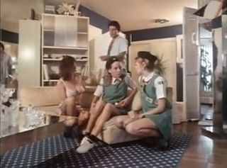 Daddy Daughter Family Groupsex Mom Old and Young Teen Uniform Vintage