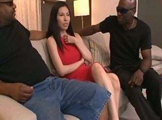 Asian Interracial  Pornstar Threesome