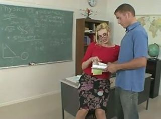 Blonde Glasses  Mom Old and Young School Teacher