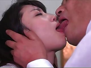 Asian Daddy Daughter Kissing Old and Young