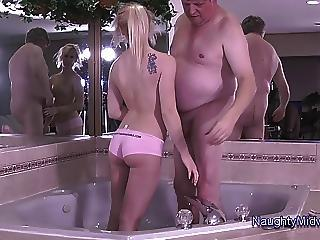 Ass Bathroom Daddy Daughter Old and Young Tattoo Teen