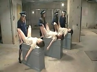 Asian Femdom Japanese Prison Strapon Uniform