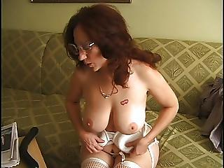Delena Dawn 5 Masturbating On Burnish apply Couch