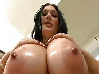 Big Tits  Nipples Oiled Piercing