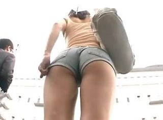 Japanese wear shorts fucked in bus part 1