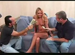 Cash Daddy Old and Young Small Tits Teen Threesome