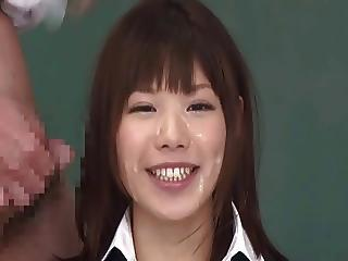 Asian Bukkake Cumshot Facial Korean  Teacher