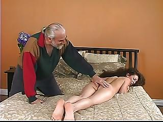Lovely Young Brunette Slave Victim Gets Say no to Ass Turned Red By Caning