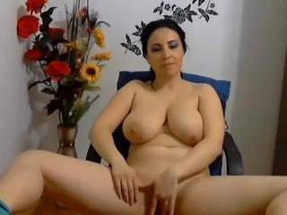 Big Tits Chubby Masturbating  Natural  Solo Webcam