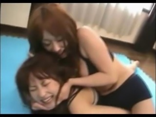 asian girls wrestling panty&shorts compilation softcore