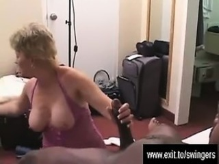Swinger Mum Tracey so happy with a BBC