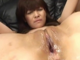 Megumi Morita Asian doll pokes her pussy around the fake sausage