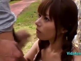 Asian Handjob Outdoor Public Teen
