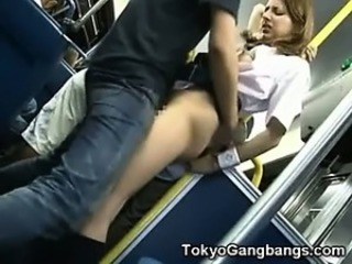Asian Bus Clothed Public Student Teen Uniform
