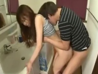 Asian Bathroom Doggystyle Hardcore Sister Teen
