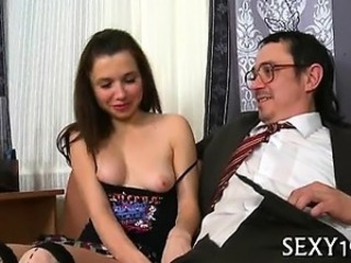 Brunette Daddy Old and Young Student Teacher Teen