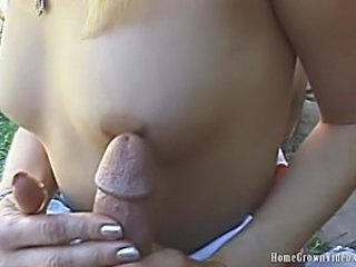 Handjob Nipples Outdoor Small Tits Teen