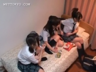 Asian teen schoolgirls playing sex games in college room free
