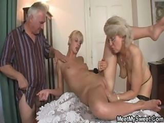 Perverted parents lady-love their son's GF