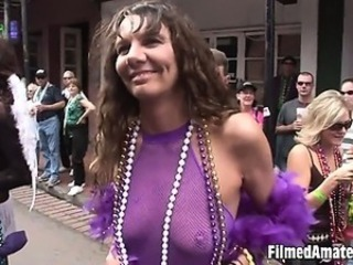 Video clip letting us see horny amateur babes having fun like crazy around town