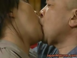 Asian Japanese Kissing Mature Older