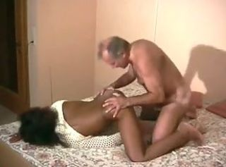 Amateur Daddy Ebony Interracial Old and Young Teen