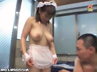 Asian Big Tits Maid Natural Uniform