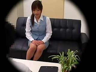 Japanese babe fucking at work on a hidden cam