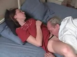 Amateur Clothed Daddy Daughter Licking Old and Young