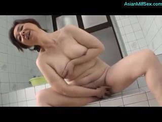 Asian Chubby Japanese Masturbating Mature Mom Showers