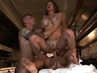Big Tits Hardcore  Mom Old and Young Riding Silicone Tits Threesome