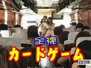 Subtitled nudist Japanese AV stars bus relaxation ice..