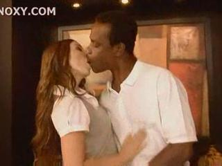 Interracial Kissing  Student Teacher