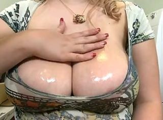 Big Tits  Natural Oiled