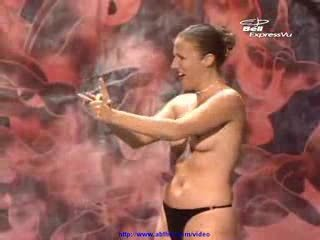 Female Magician Gets Totally Naked On Stage