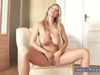 Babe Big Tits Masturbating Natural