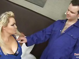 Blonde  Mom Old and Young Pornstar