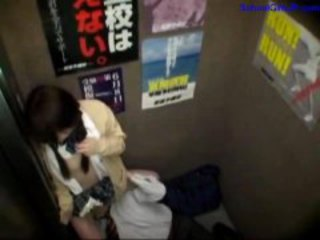 Schoolgirl Fingered Sucking Business Man Getting Her Mouth Fucked In The Elevator