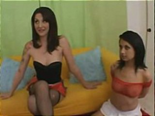 Brunette Teen Threesome