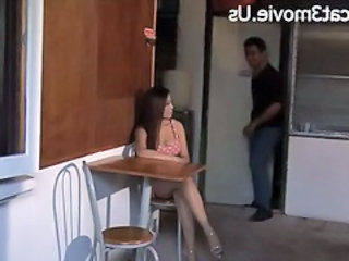 Hot Asian girl Nualnang Khang in scenes from one of her movies