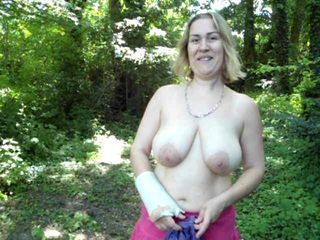 Amateur Big Tits Chubby European French  Natural Outdoor
