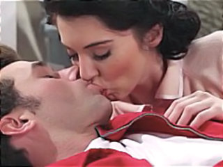 Brunette in retro setting gets and gives head before ass fucking