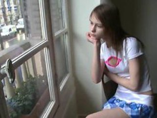 Beata babysitter awaiting her boyfriend
