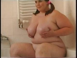 Chubby Big Girl Plays with Her Clit