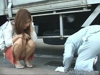 Dissatisfied Japanese lady has a soft